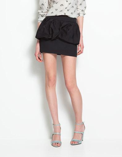 falda zara peplum corta