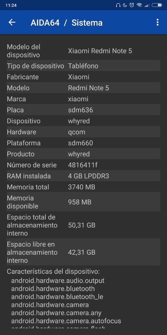 Foto de Benchmarks del Xiaomi Redmi Note 5 (2/6)