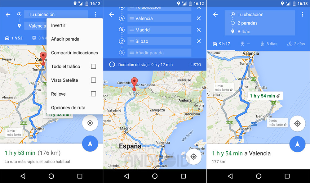 Going To Multiple Destinations With Google Maps For Android Phoneia - Google maps multiple stops