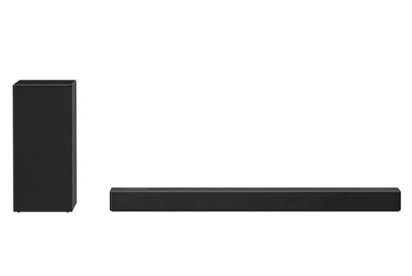 Barra de sonido - LG SN7Y, Subwoofer inalámbrico, 380 W, Dolby Atmos, Meridian Sound, ASC, Bass Blast+, Negro