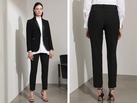 Pantalon De Traje De Mujer En Color Negro