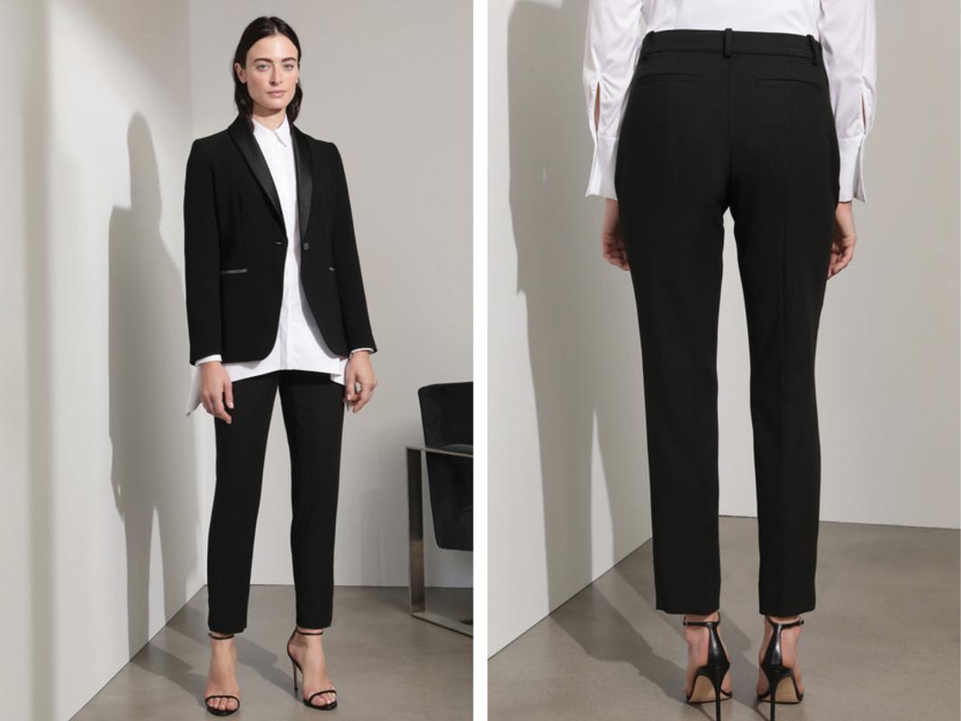 Pantalón de traje de mujer en color negro
