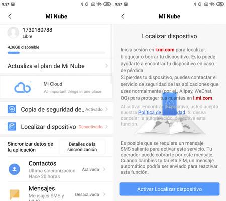 Mi Nube Xiaomi App