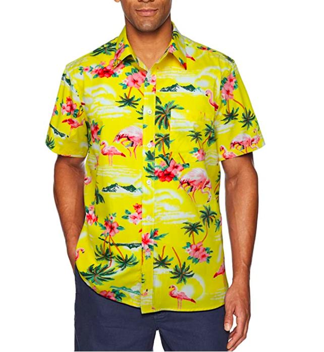 HISDERN Hombre Camisas Hawaianas Funky