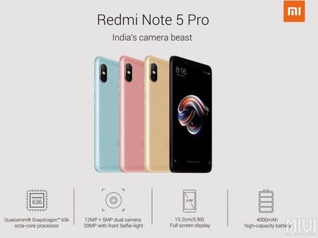 Xiaomi Redmi Note 5 Pro Colores