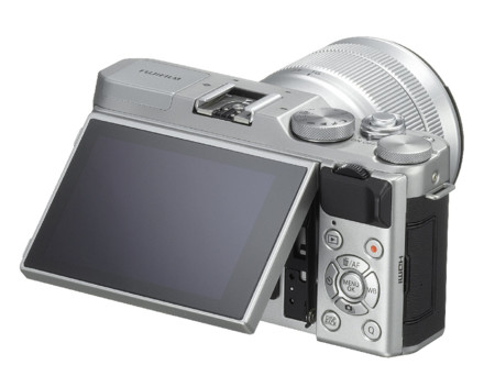 Fuji X A3 Silver 16 50mm Backleft Tilt45