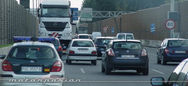 Circulación densa en carretera