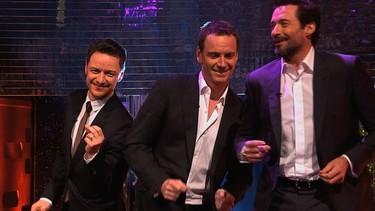 Hugh Jackman, Michael Fassbender y James McAvoy bailando: el cielo era esto