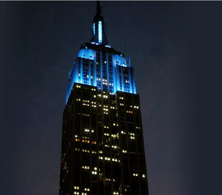 Empire State Building de azul