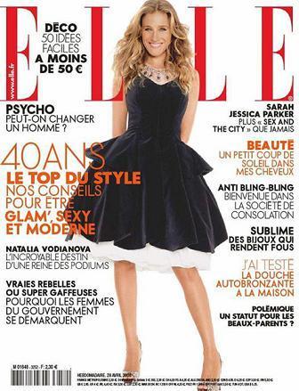 Sarah Jessica Parker portada de Elle Francia