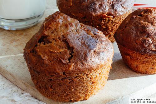 Muffins de chocolate y hojuelas de maíz. Receta de postre