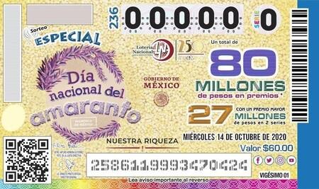 Lotería Nacional emite billete conmemorativo del Día del Amaranto