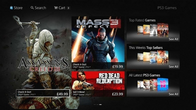 Nueva interfaz PS Store Sony