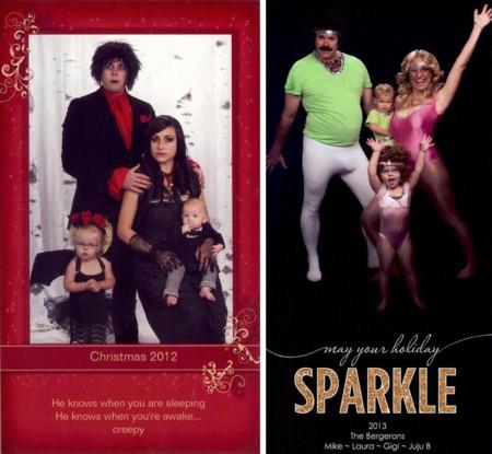 Si no sabes cómo felicitar la Navidad mira a esta familia: llevan años haciéndose fotos graciosísimas