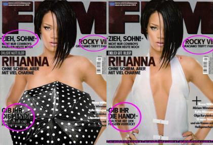 El destape trucado de Rihanna