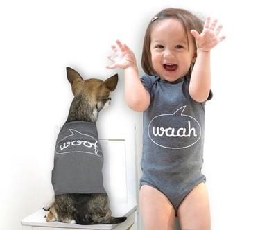 Babawowo: ropita para el bebé a juego con la del perro