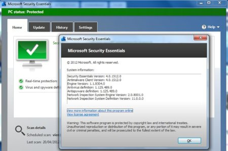 Disponible la versión final de Microsoft Security Essentials 4.0