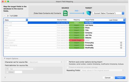 FileMaker Data Importer