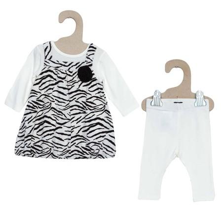 Conjunto De Vestido Y Legging Estampado Cebra Bebe Nina Gg604 1 Zc1