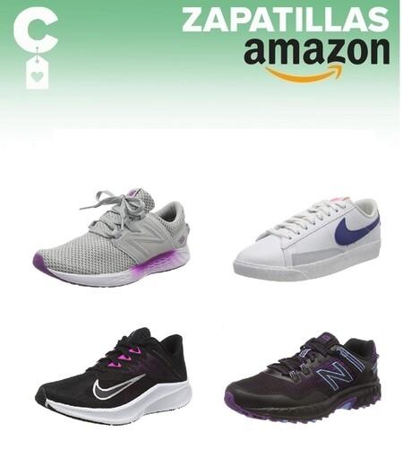 Chollos en tallas sueltas de  zapatillas New Balance y Nike en Amazon