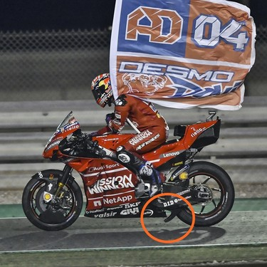 La paradoja de la innovación en MotoGP pudo haber dejado sin victoria a Andrea Dovizioso en Catar