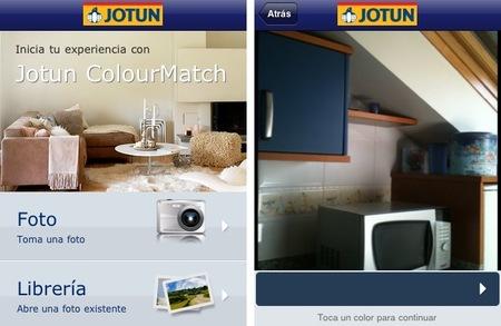 Aplicación de Jotun para elegir colores con tu smartphone. La probamos
