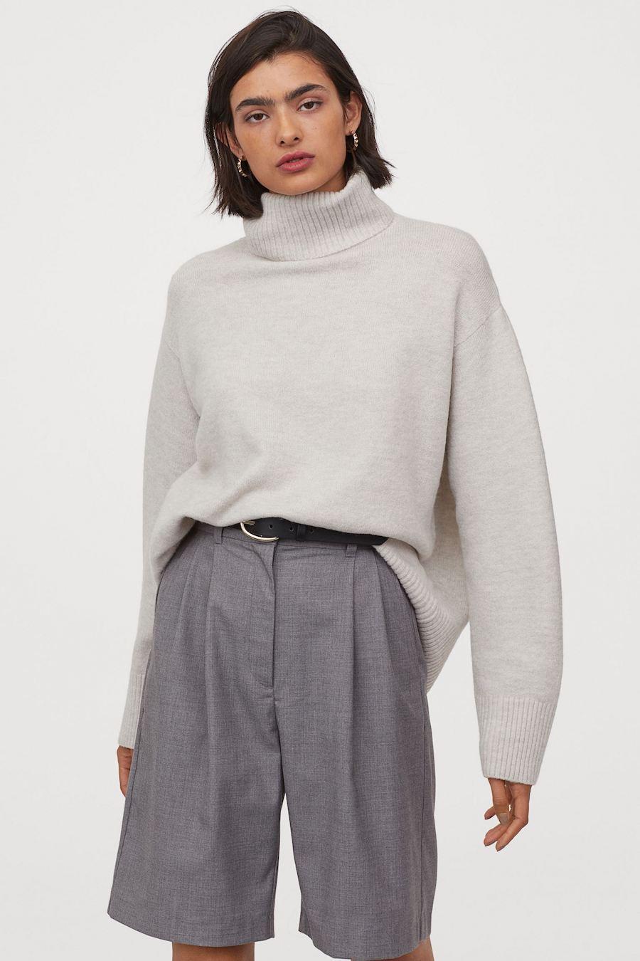 Jersey de punto cuello alto