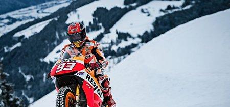"""Esto era lo que Marc Márquez y sus """"grandes cojones"""" tramaban con la MotoGP en la nieve"""