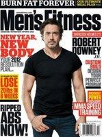 Robert Downey Jr posa a lo 'chulito de discoteca' en la portada de Men's Fitness