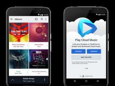CloudPlayer es el reproductor de música que funciona con Google Drive, Dropbox y OneDrive