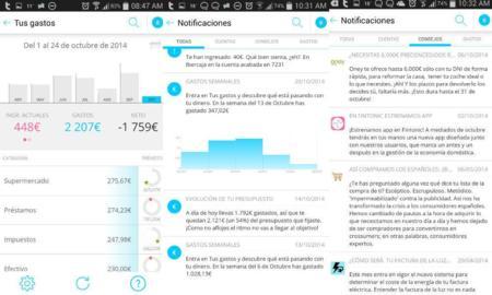 Avisos y notificaciones de Fintonic