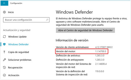 Windows Defender engine