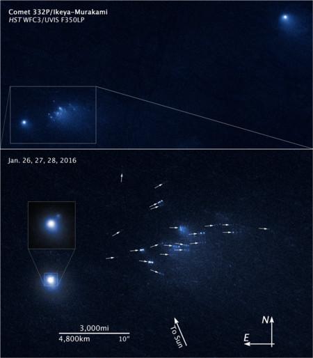 Comet 332p Ikeya Murakami Hst Wfcs Uvis F35olp Annotated