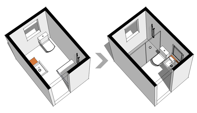 Medidas Baño Pequeno:Diseño y distribución de baños: cuatro criterios para acertar