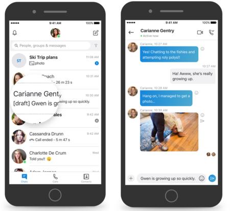 Nueva versión de Skype para iOS y macOS