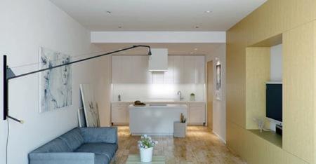 Puertas abiertas: mobiliario plegable en un pequeño apartamento