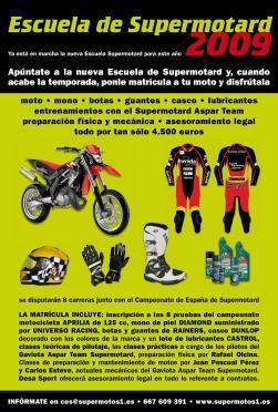 Escuela de supermotard Team Aspar