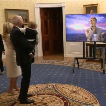 Desde la Casa Blanca, el Presidente de USA y la Primera Dama, Joe y Jill Biden, bailaron al son de Demi Lovato y Justin Timberlake
