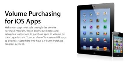 Apple estrena la compra de aplicaciones por volumen en España