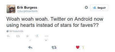 Corazones en vez de estrellas, así experimenta Twitter con los favoritos en Android