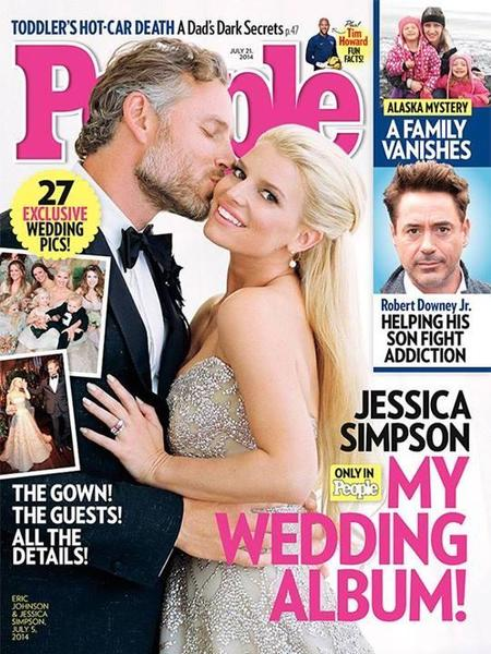 Ya llegó la exclusiva de la boda de Jessica Simpson