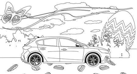 Ford se une a Porsche y Audi y crea plantillas para colorear de sus coches más icónicos