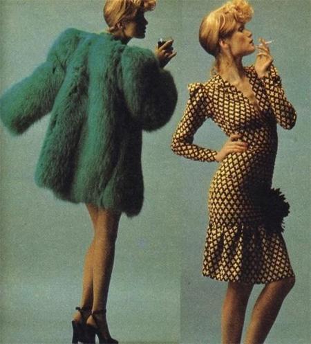 Willy Van Rooy fotografiada con prendas de la colección por Han Feurer para Elle Francia