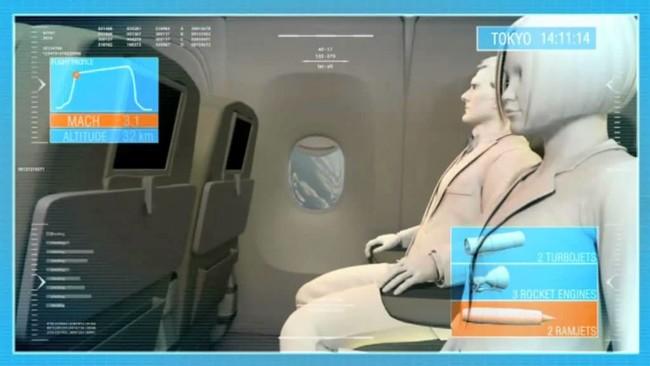 En 2050 volaremos de Madrid a Tokyo en 150 minutos con este avión supersónico