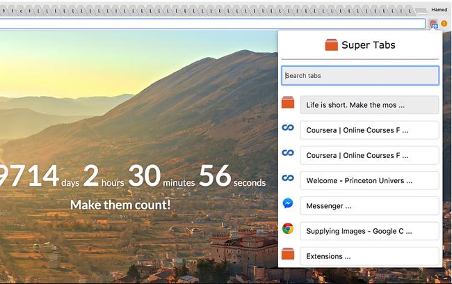 SuperTabs, o cómo hacer mucho más sencillo el cambiar entre docenas de pestañas en Chrome