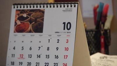 Calendario fiscal del mes de octubre