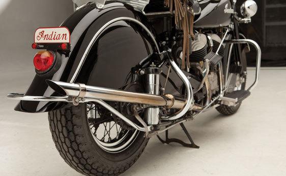 Foto de A subasta la motocicleta Indian Chief de 1946 que perteneció a Steve McQueen (1/19)