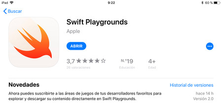 Ya disponible Swift Playgrounds 2.0, con soporte para suscripciones