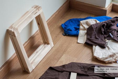 Bastidores de madera para camisetas
