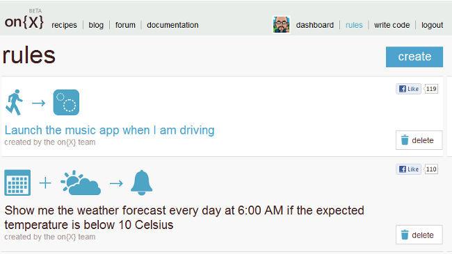 on{X} una aplicación para Android de Microsoft para automatizar tareas